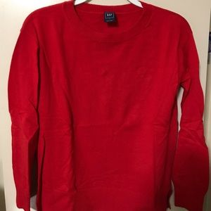 Love red basic sweater